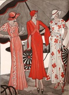 Fashion History - Ladies' Fashion Designs of the 1930's With Pictures