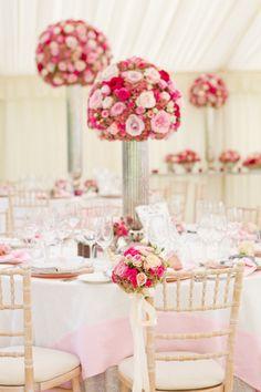 amazing pink flowers wedding ideas
