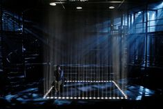 kiss of the spider woman signature theater... love the cage made of light!