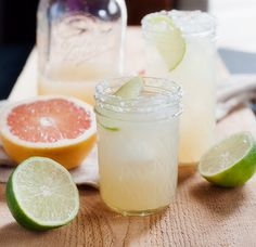 Pink Grapefruit Margs.  Just bought a mammoth bag at the Costco.  Freaking yum.