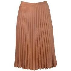 LEBOR GABALA Pleated skirt ($345) ❤ liked on Polyvore