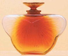 *1913 R. Lalique Perfume Bottle ~La Phalene~ 8cm