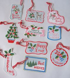 print & pattern: CATH KIDSTON - christmas tags/labels