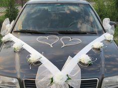krásná dekorace na svatební auto Wedding Places, Cycle, Decoration, Weddings, Car, Automobile, Wedding Reception Venues, Decor, Wedding Venues
