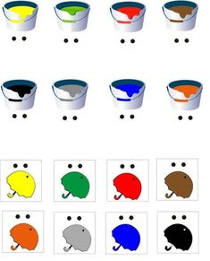 Color sorting and matching activities