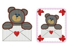 Lovable Valentine Bears Machine Embroidery Designs http://www.designsbysick.com/details/lovablebears
