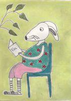 rabbit reading a bokk