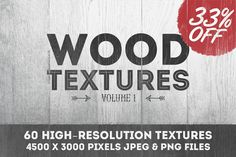 Check out Wood Textures Vol. 1 - 60 Textures by Gabor Monori on Creative Market