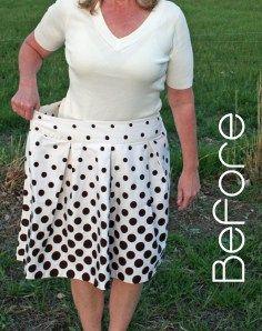 DE TODO UN POCO: Transforma tu falda en una linda blusa