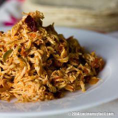 Receta de Tinga poblana de pollo, un platillo tradicional de la cocina mexicana que no puedes dejar de preparar | cocinamuyfacil.com