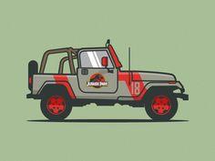 Jurassic Park Jeep - by Michael Walchalk