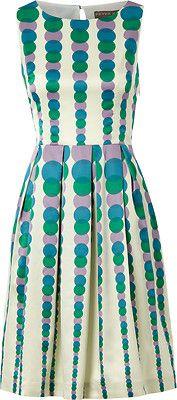 BNWT Fever Romilly Cream Teal Atomic Polka Prom Tea Dress 8-16 VTG 50s Wedding | eBay