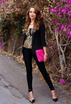 Animal Print and A Pop of Pink