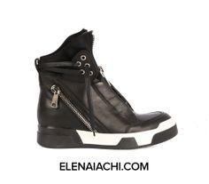 #sneakers #elenaiachi #artmustbedangerous #black #cool #zip #MUSTHAVE #madeinitaly #handmade #fashionshoes  elenaiachi.com