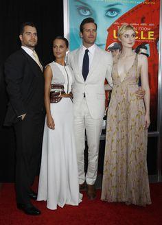 "Henry Cavill, Armie Hammer, Alicia Vikander, Elizabeth Debicki ""Man From UNCLE"" premiere"