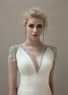 13 Perfect Wedding Dresses Open Back Couture Dresses, Bridal Dresses, Fashion Dresses, Kurti Neck Designs, Blouse Designs, Simple Dresses, Beautiful Dresses, Robes Glamour, Myanmar Dress Design