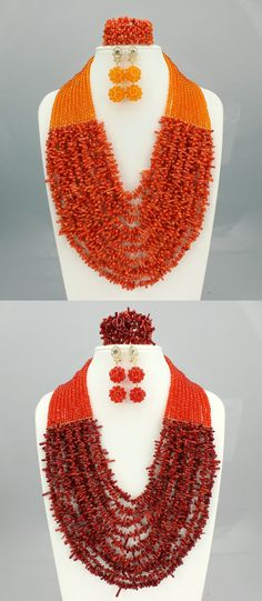 2016 Latest African Wedding Coral Beads Jewelry Set African Nigeria beads jewelery Sets for Free Shipping C70-1