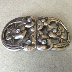 Evald Nielsen 830 Silver Rare Belt Buckle with Moonstones, Handmade Sterling Silver - Gallery 925