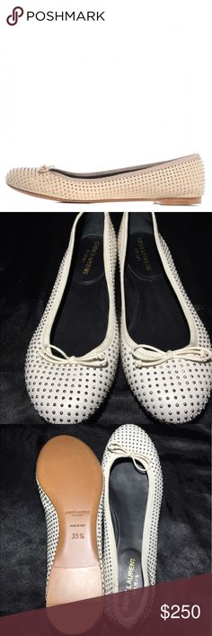Yves Saint Laurent leather ballet flats Beautiful shoes, never wore them because they are to small for me and brand new conditions Yves Saint Laurent Shoes Flats & Loafers