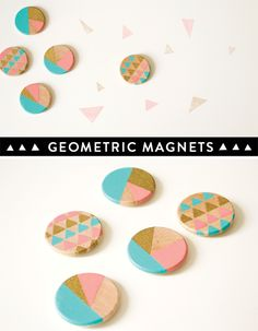 Here's a simple DIY idea for yourself or even better, a gift. When I think fridge magnets, I usually think 'tacky' but these should add some colour and life to your fridge or noti…