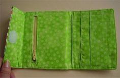 !!!!♥ Feltro-Aholic ♥ Moldes e pap em feltro e feltro estampado!: Carteira em tecido com compartimentos - Tutorial!