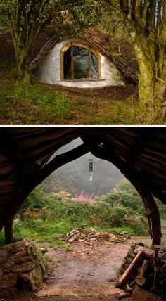 Straw, Sticks & Secrets: A Hand-Built Earthen Hobbit Home, the pictures of the inside are just so pretty Hobbit Hole, The Hobbit, Natural Building, Green Building, Underground Homes, Earth Homes, Bath And Beyond Coupon, Earthship, My Dream Home