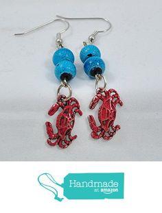 Fun Funky Hand-painted red crab Beaded Charm Earrings from Jooniebeads Treasures https://www.amazon.com/dp/B01NCE31TR/ref=hnd_sw_r_pi_dp_O1Ppyb615T9W2 #handmadeatamazon
