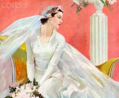 Bride in White Against a Pink Background