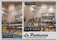 """Progetto luce del """"Living illuminazione Riccione"""". Negozio illuminato a  Rivazzurra di Rimini"""