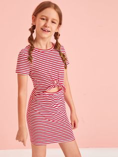 Teenage Girl Outfits, Kids Outfits Girls, Girls Fashion Clothes, Tween Fashion, Girl Fashion, Fashion Outfits, Cute Girl Dresses, Girls Casual Dresses, Casual Summer Outfits
