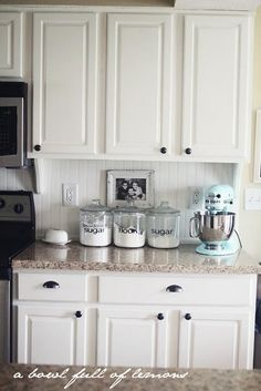 Things For The Kitchen On Pinterest White Cabinets Countertops And Ball Jars