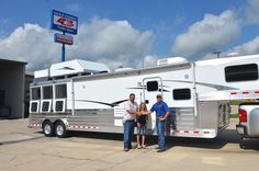 Mr. & Mrs. Wold picked up their new 2013 4-Star 3H w/ 15' Outlaw LQ this morning and are headed back home to Murrieta, California. Safe travels and thank you!! Nick Garcia Gulf Coast 4-Star Trailers LLC 877-543-0733