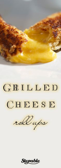 Grilled Cheese Roll-Ups @Stepable #recipes