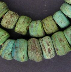 "Take a look at this amazing strand of Hebron beads, brought here from Africa. These bead are sometimes referred to as ""Kano Beads"". They are said to have been made in Hebron before 1800. The strand is"