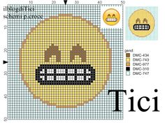 Schema punto croce Emoticon che ride