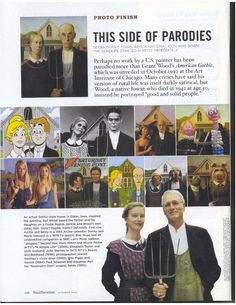 Work with Parody of the American Gothic. Use foam board to create your parody Grant Wood American Gothic, American Gothic Parody, Art Sub Plans, Art Lesson Plans, Middle School Art, Art School, High School, Art Handouts, Art Grants