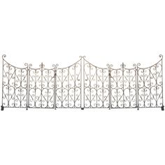 French Wrought Iron Garden Gate or Fence   1stdibs.com
