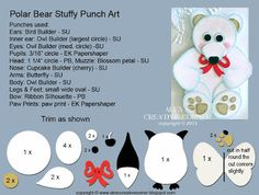 Alexs Creative Corner: Polar bear stuffy punch art instructions