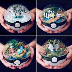 Pokeball Terrariums #shutupandtakemyyen #pokemon #pokemongo #anime #nintendo #pokeball #merch #merchandise #pokemonmerch #pokemonmerchandise #nintendomerch #nintendomerchandise #animemerch #animemerchandise #terrarium