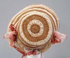 Bonnet (back view) | United States, circa 1818 | Materials: straw, silk | The Metropolitan Museum of Art, New York