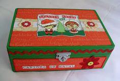 artes by Má: Caixa para cartões de Natal