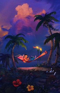 """Island Lullaby"" by William Silvers Cartoon Wallpaper, Disney Phone Wallpaper, Cute Wallpaper Backgrounds, Wallpaper Iphone Cute, Cute Wallpapers, Wallpaper Wallpapers, Phone Backgrounds, Wallpaper Quotes, Disney Stitch"