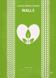 No235 My WALL-E minimal movie poster  In the distant future, a small waste…