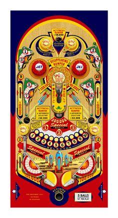 Rocket Pinball Board By Terry Pastor Fallout 4 Automatron, Flipper Pinball, Pinball Wizard, Board Games, Game Boards, Fun Games, Arcade Games, Game Art, Miniatures
