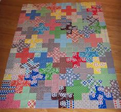 Katie Jump Rope Quilt top by The Spotted Elephant Boutique, via Flickr