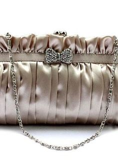 Elegant Bow Clutch Bag Satin Evening Bags Stone,  Bag, SatinInterior smooth satin fabric, Casual