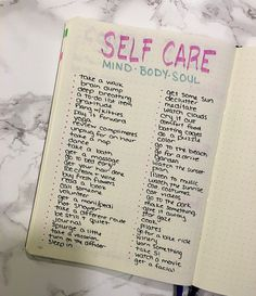 Create your own self care routine with this bullet journal cheat sheet!