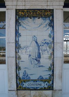 Painel de Azulejos: Costume - Leiria