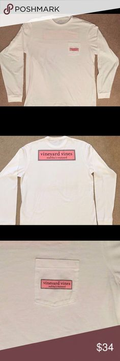 Vineyard vines shirt Vineyard vines long sleeve shirt men's small, in great condition. I sell on mercari for cheaper! My username is aaaalliiee Vineyard Vines Tops Tees - Long Sleeve
