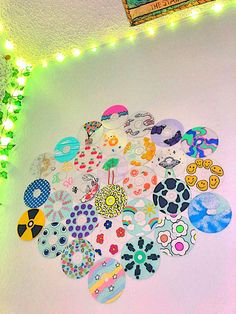 Indie Bedroom, Indie Room Decor, Cute Bedroom Decor, Aesthetic Room Decor, Cd Wall Art, Wall Collage, Vinyl Record Art, Vinyl Art, Arte Indie